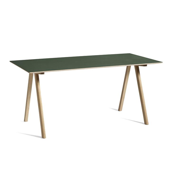 Copenhague CPH10 Tisch, 160 x 80 cm, Eiche / grün von Hay