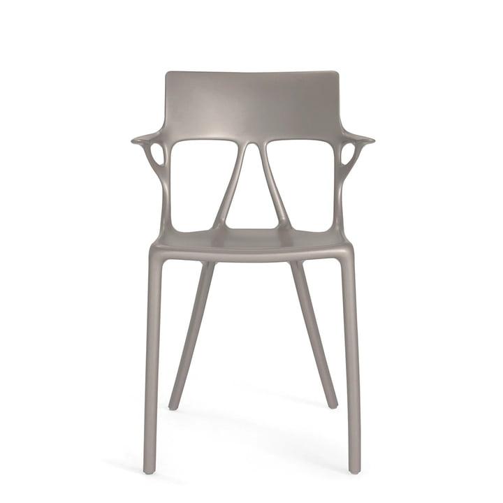 AI Stuhl von Kartell in grau metallic