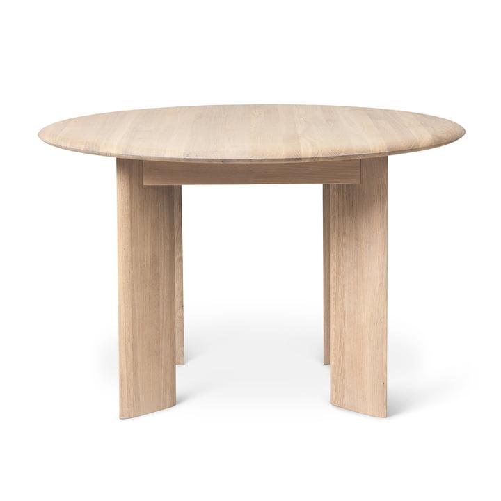 Bevel Tisch, Ø 117 x H 73 cm, Eiche weiß geölt von ferm Living