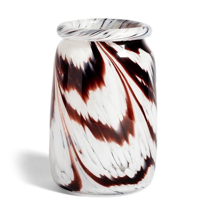 Splash Vase L, Ø 27 x H 17.5 cm, Coffee and white von Hay