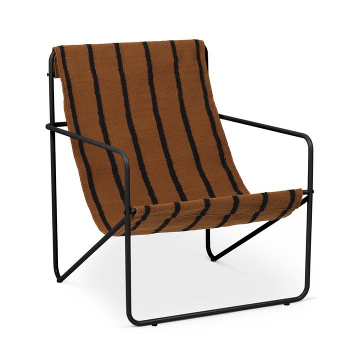 Desert Chair, schwarz / stripe von ferm Living
