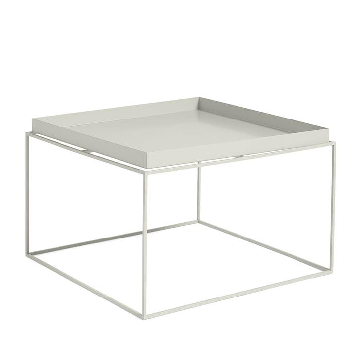 Tray Table quadratisch, 60 x 60 cm, warm grey von Hay