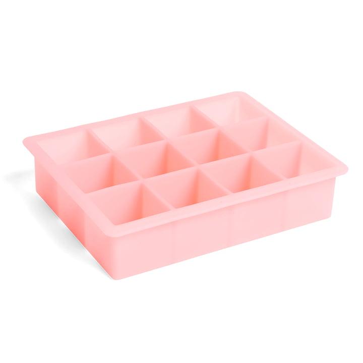 Silikon Eiswürfelbereiter rechteckig XL, pink von Hay