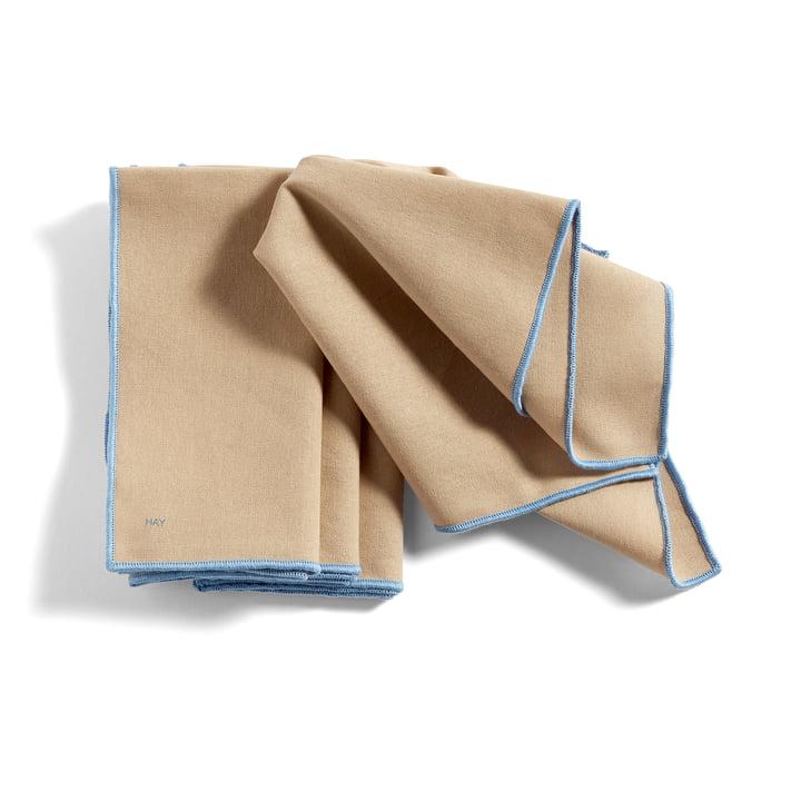 Contour Serviette, 40 x 40 cm, beige (4er-Set) von Hay