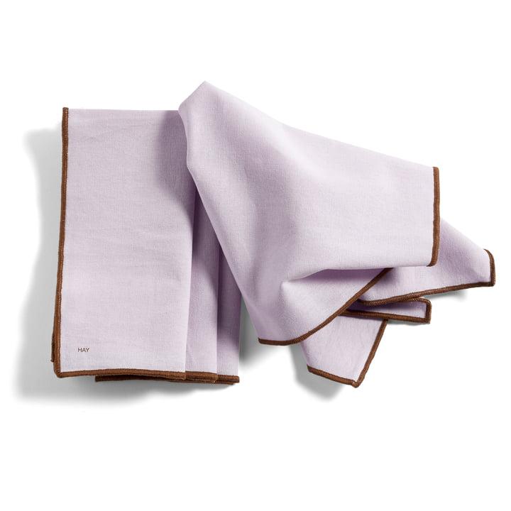 Contour Serviette, 40 x 40 cm, lavendel (4er-Set) von Hay