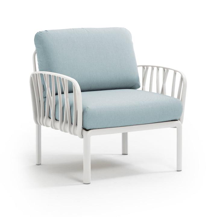 Komodo Poltrona Sessel, weiß / eisblau von Nardi