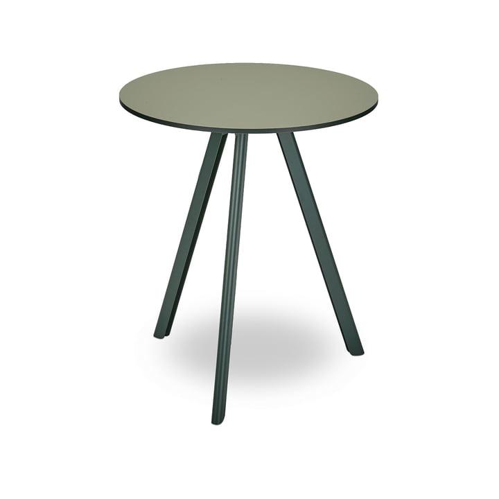 Overlap Tisch Ø 62 cm von Skagerak in jagdgrün