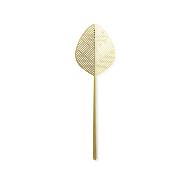 Leaflike Metallblatt Alva H 50,6 cm von Lucie Kaas in Messing