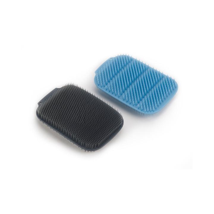 CleanTech Spülschwamm, blau / grau (2er-Set) von Joseph Joseph