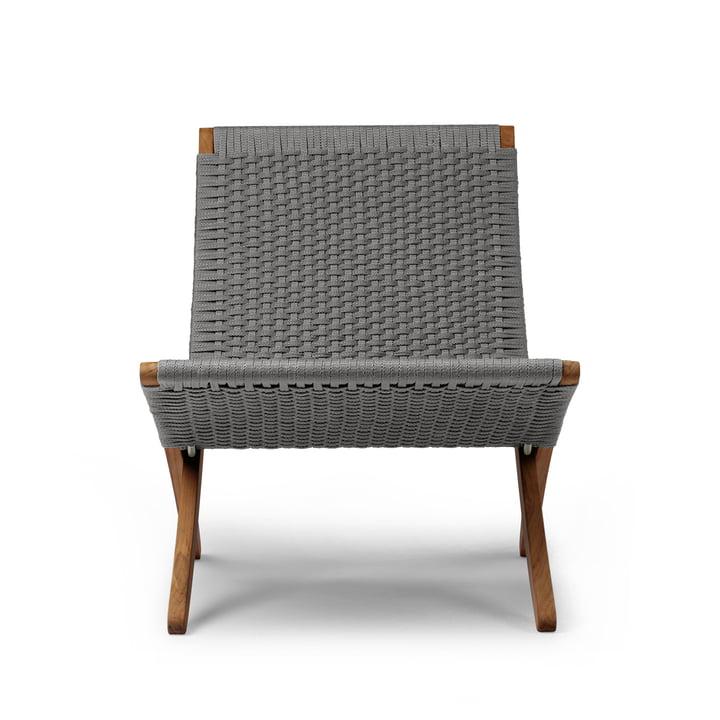 MG501 Cuba Chair Outdoor von Carl Hansen in Teak geölt / anthrazit