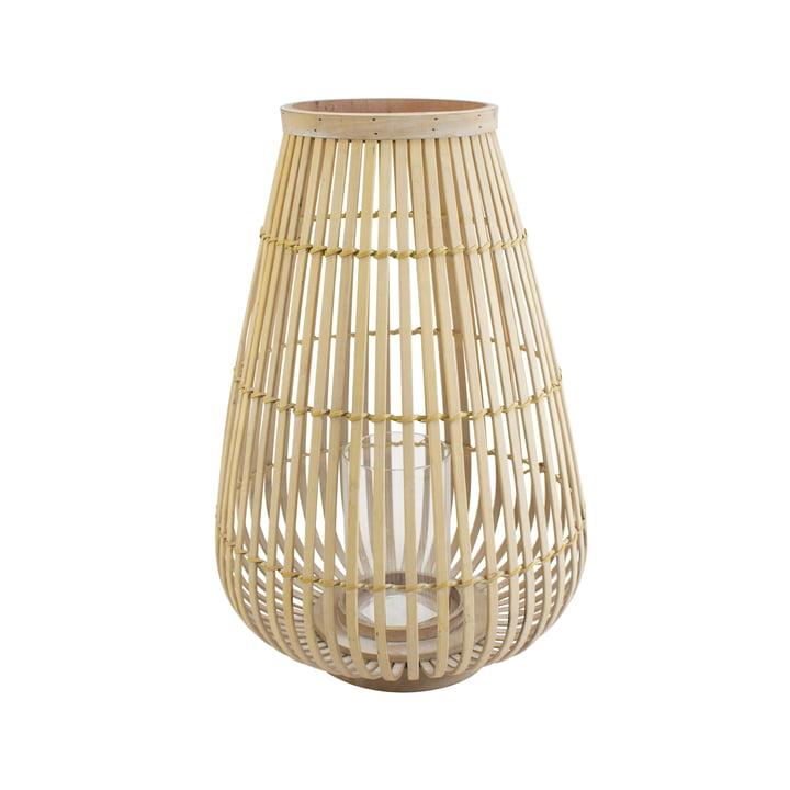 Großes Bambus-Windlicht in natur