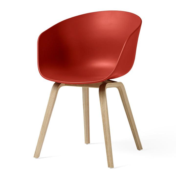 About A Chair AAC 22 von Hay in Eiche matt lackiert / warm red