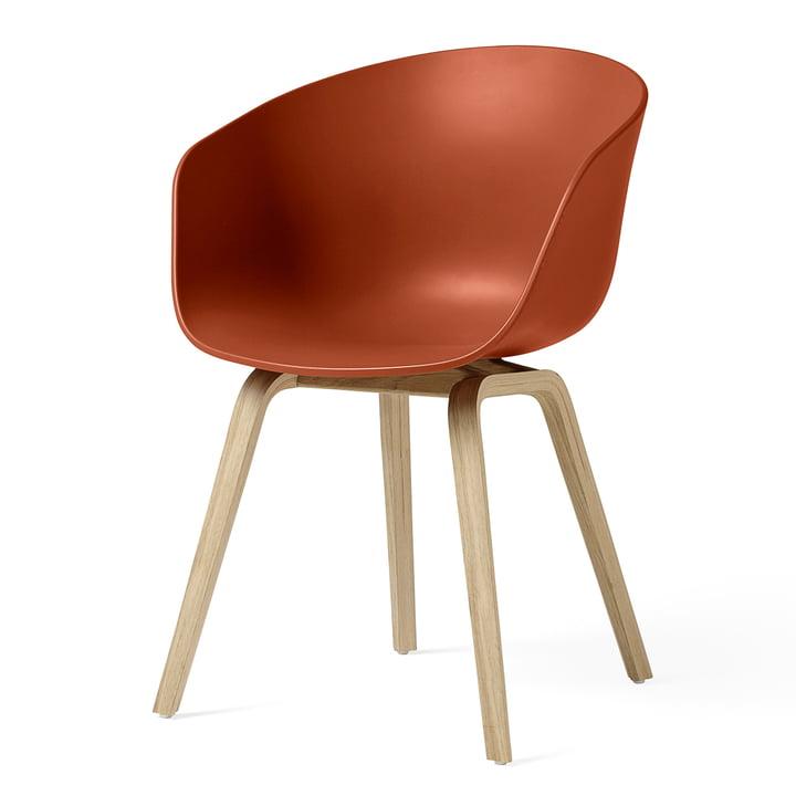 About A Chair AAC 22 von Hay in Eiche matt lackiert / orange