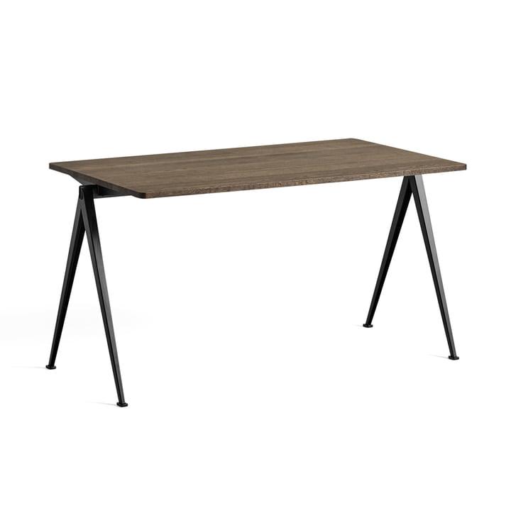 Pyramid Table 01 140 x 75 cm von Hay in Eiche geräuchert / schwarz