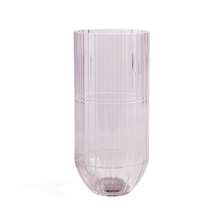 Colour Vase Glasvase XL von Hay in pink