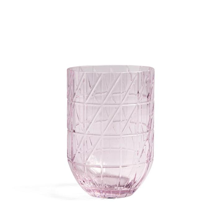 Colour Vase Glasvase L von Hay in pink