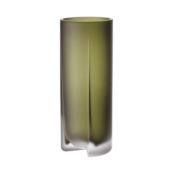 Kuru Vase 255 mm von Iittala in moosgrün
