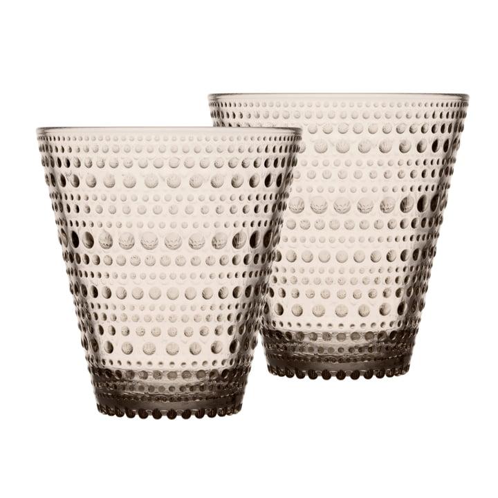 Kastehelmi Trinkglas 30 cl von Iittala in leinen (2er-Set)