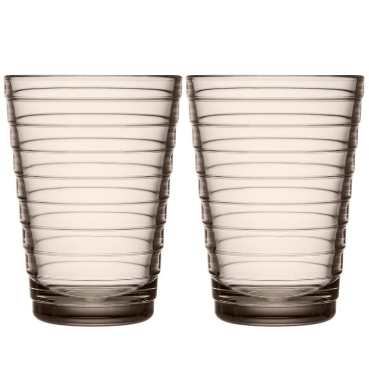 Aino Aalto Longdrinkglas 33 cl von Iittala in leinen (2er-Set)