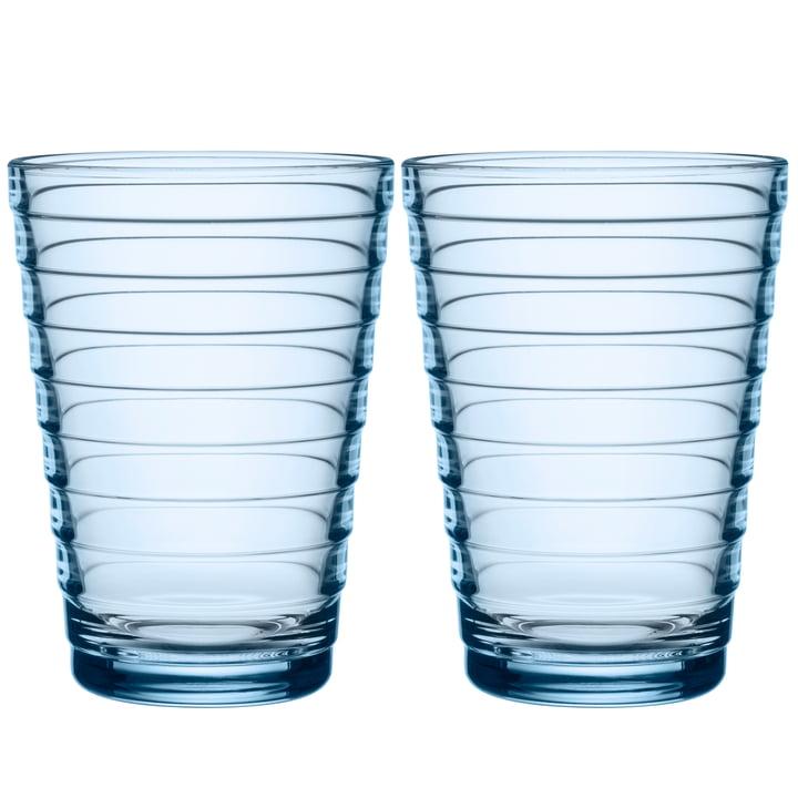 Aino Aalto Longdrinkglas 33 cl von Iittala in aqua (2er-Set)