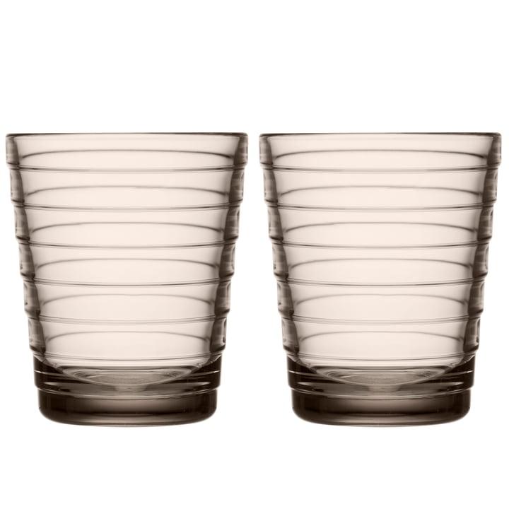 Aino Aalto Glasbecher 22 cl von Iittala in leinen (2er-Set)