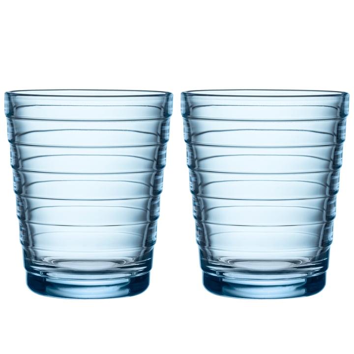 Aino Aalto Glasbecher 22 cl von Iittala in aqua (2er-Set)