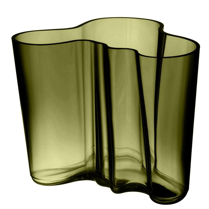 Aalto Vase Savoy 160 mm von Iittala in moosgrün