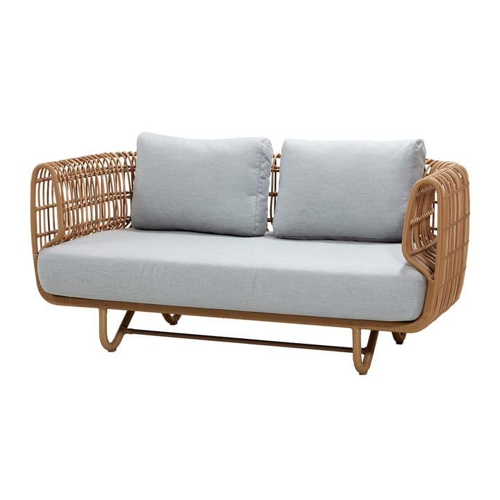 Nest 2-Sitzer Sofa Outdoor, natur / hellgrau von Cane-line