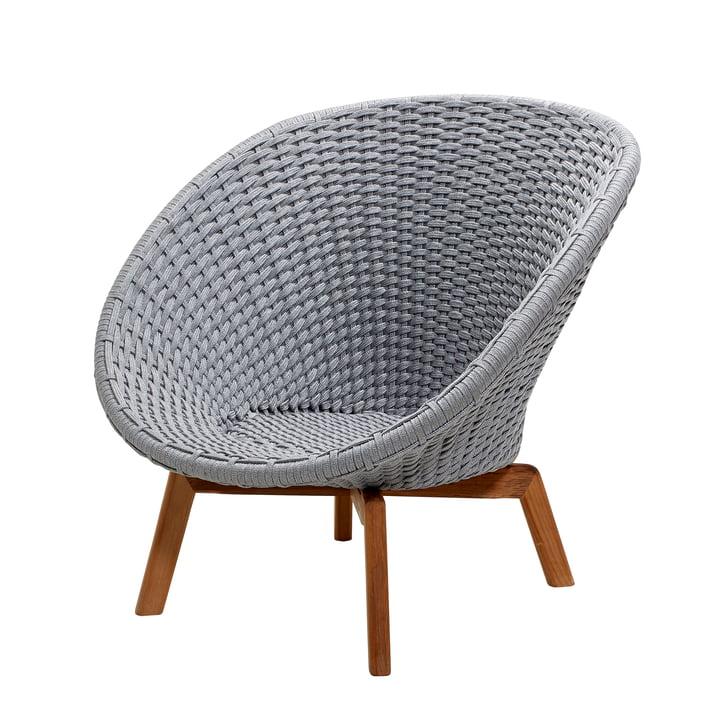 Peacock Lounge Sessel von Cane-line in hellgrau
