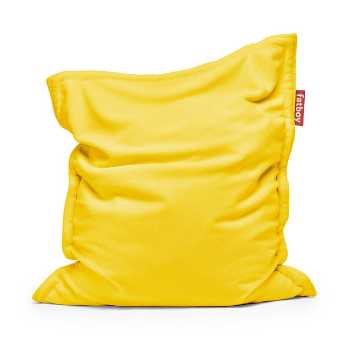 Sitzsack Original Slim Teddy von Fatboy in lemon