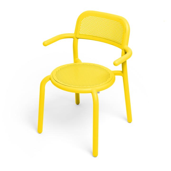 Toní Armlehnstuhl von Fatboy in der Farbe lemon