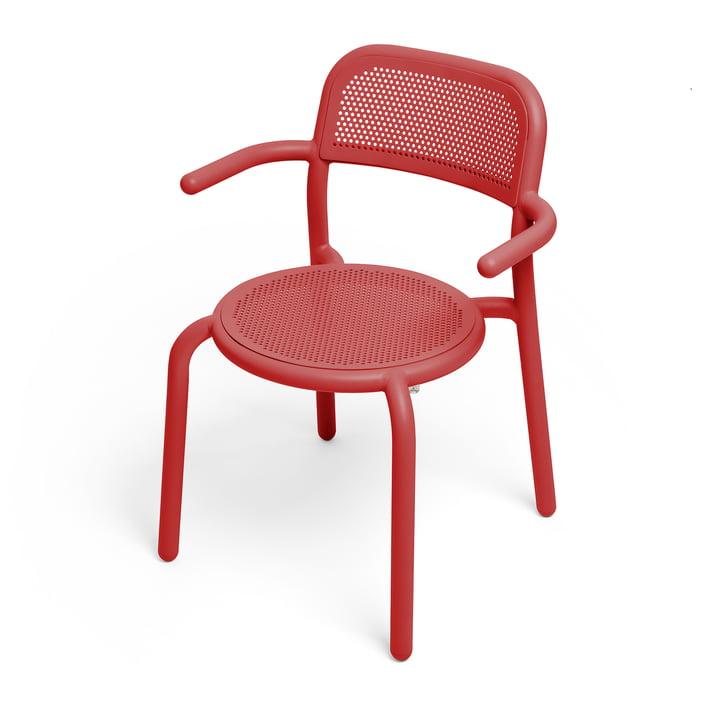 Der Toní Armlehnstuhl von Fatboy in der Farbe industrial red