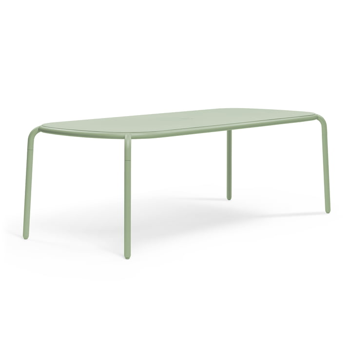 Toní Tablo Tisch von Fatboy in der Farbe mist green