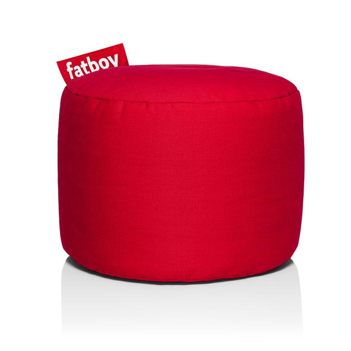Point Stonewashed Sitzhocker von Fatboy in rot