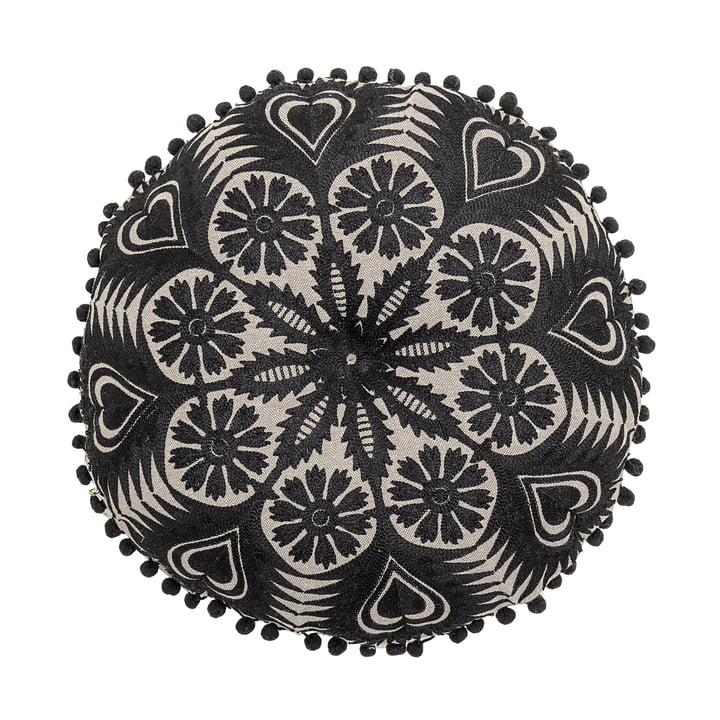 Kissen, Ø 36 cm von Bloomingville in schwarz