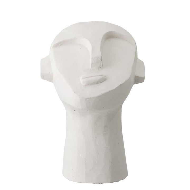 Kopf Skulptur abstrakt H 22 cm von Bloomingville in Beton weiß