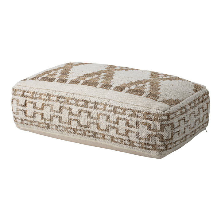 Pouf 105 x 60 cm von Bloomingville in multi-color / beige