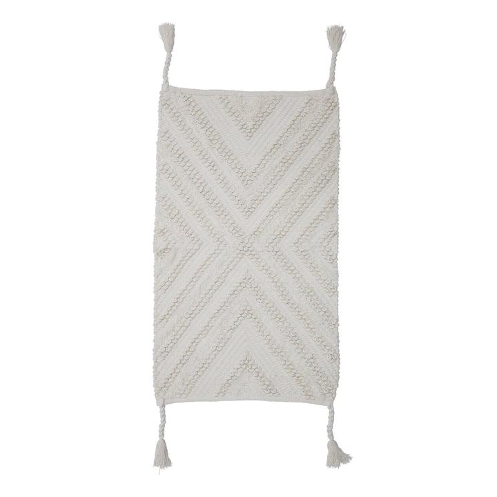 Teppich mit Quasten 95 x 55 cm von Bloomingville in weiß