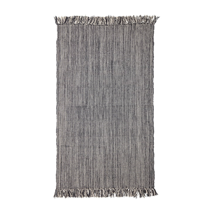 Teppich mit Fransen 150 x 90 cm von Bloomingville in grau
