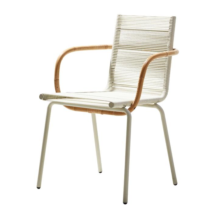 Sidd Armlehnstuhl, weiß von Cane-line