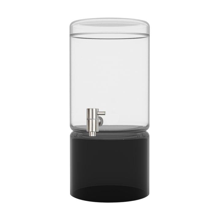 Getränkespender aus Glas in schwarz 5 Liter