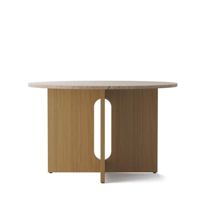 Androgyne Tisch, Ø 120 x H 73 cm, Eiche natur / Sandstein von Menu
