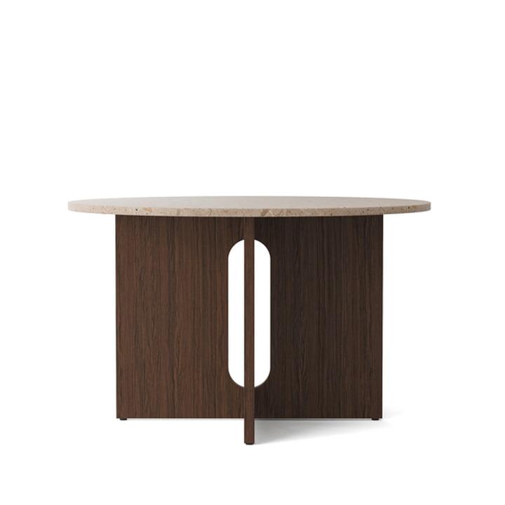 Androgyne Tisch, Ø 120 x H 73 cm, Eiche dunkel / Sandstein von Menu