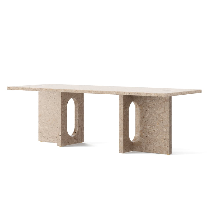Androgyne Lounge Table, 120 x 45 cm, sand von Menu