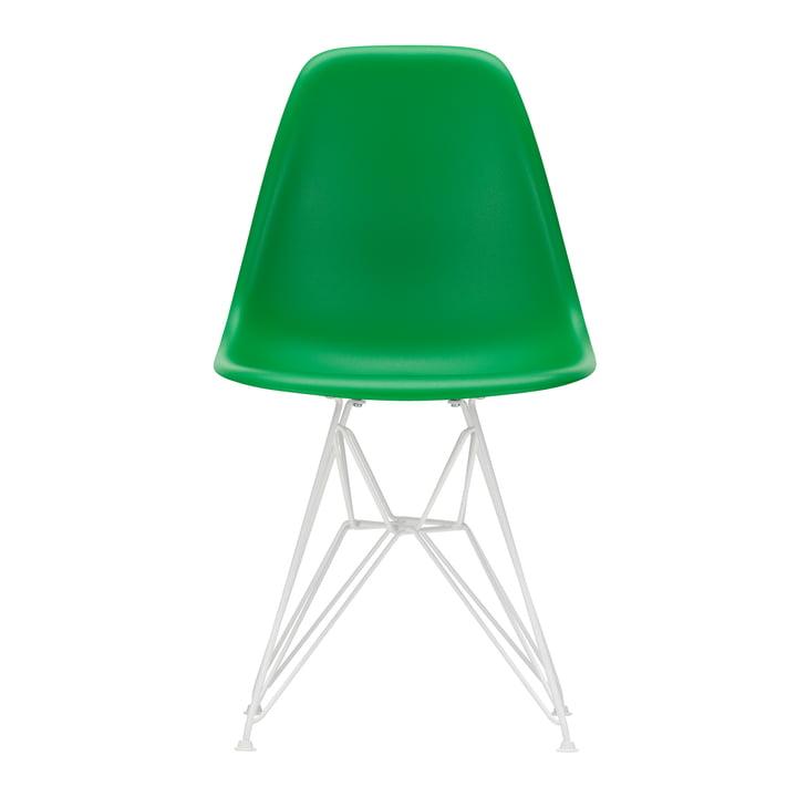 Eames Plastic Side Chair DSR von Vitra in weiß / grün (Filzgleiter weiß)