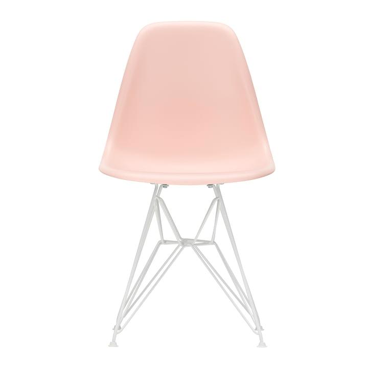 Eames Plastic Side Chair DSR von Vitra in weiß / zartrosé (Filzgleiter weiß)