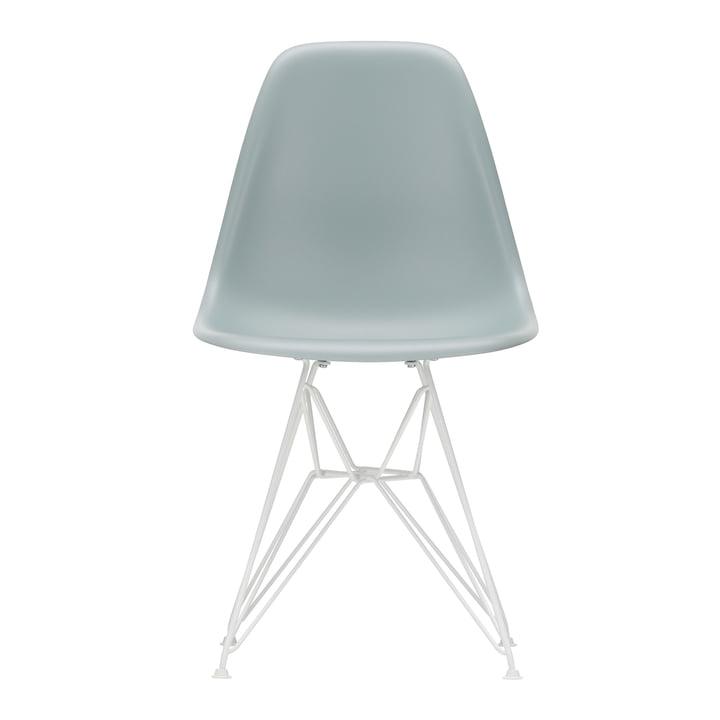 Eames Plastic Side Chair DSR von Vitra in weiß / hellgrau (Filzgleiter weiß)