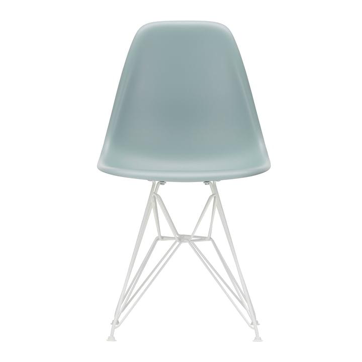 Eames Plastic Side Chair DSR von Vitra in weiß / eisgrau (Filzgleiter weiß)