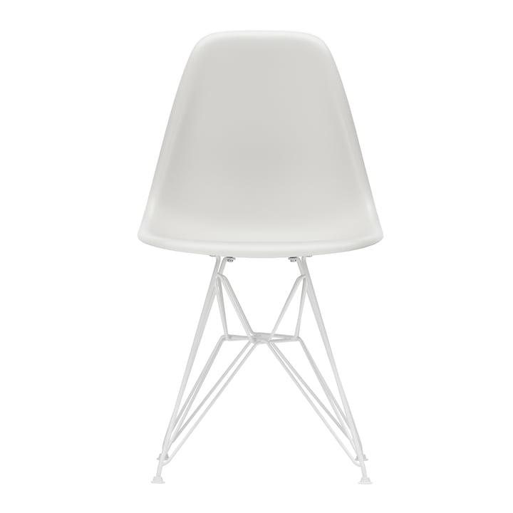 Eames Plastic Side Chair DSR von Vitra in weiß / weiß (Filzgleiter weiß)