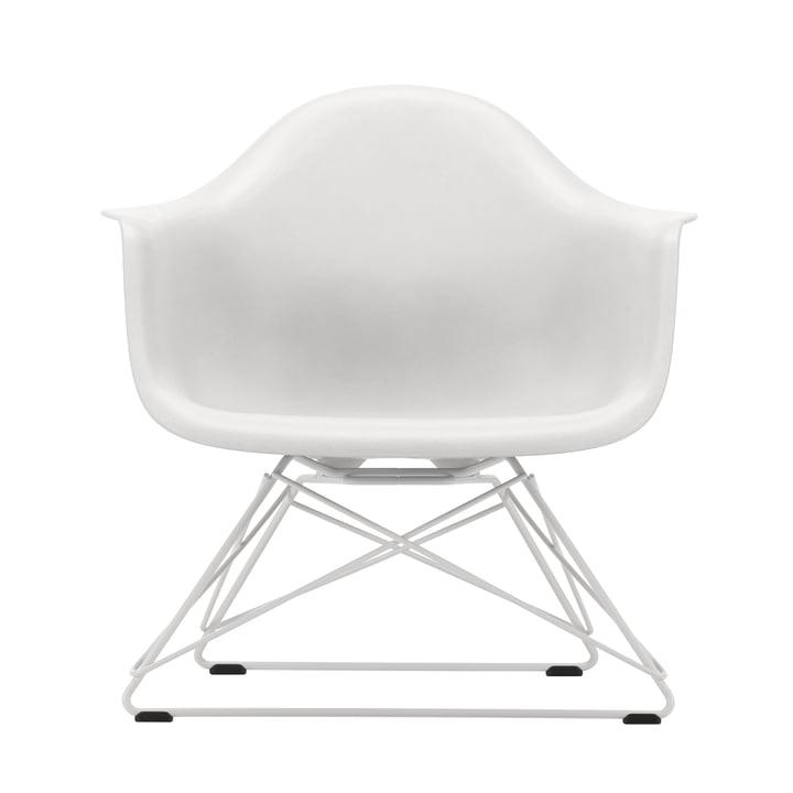 Eames Plastic Armchair LAR von Vitra in weiß / weiß (Filzgleiter basic dark)